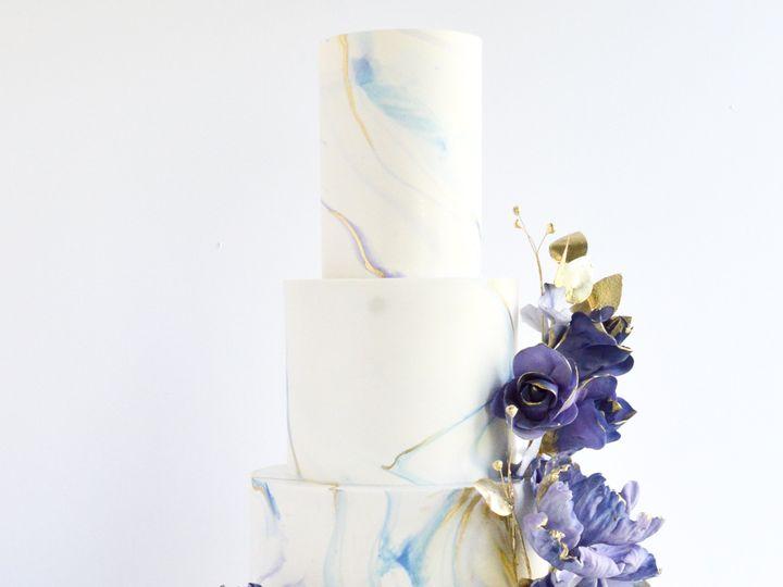 Tmx Sugarrealm Cincinnatiweddingcakes Marbledpurpleandgold Weddingcake 6 51 404293 1562162262 Haverford, PA wedding cake
