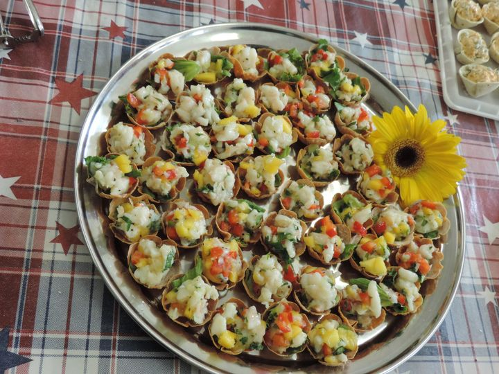 Tmx 1416423885693 Seafood Salad In Baked Wonton Rochester wedding catering