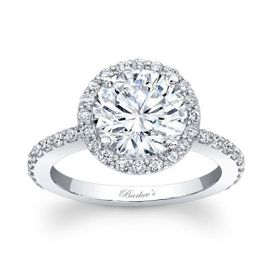 Round Best Seller Halo Ring from Barkev's 7839LW