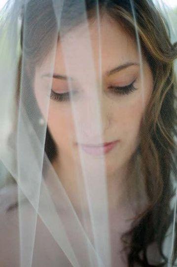 The bride in veil