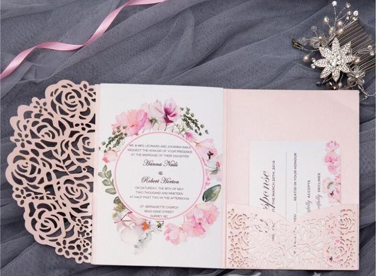Sample folding invitation