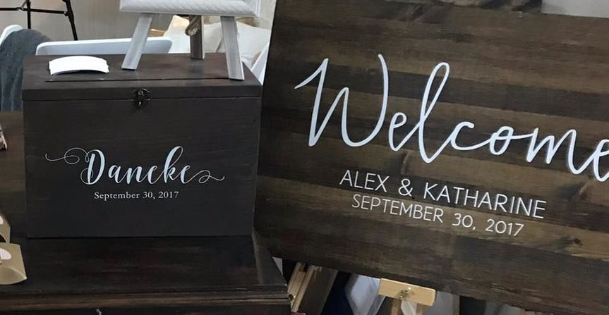 Signage made just for our couples