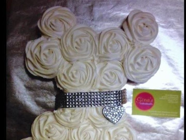 Tmx 1443054880351 Bridal Shower Cupcakecake1 Arlington wedding cake