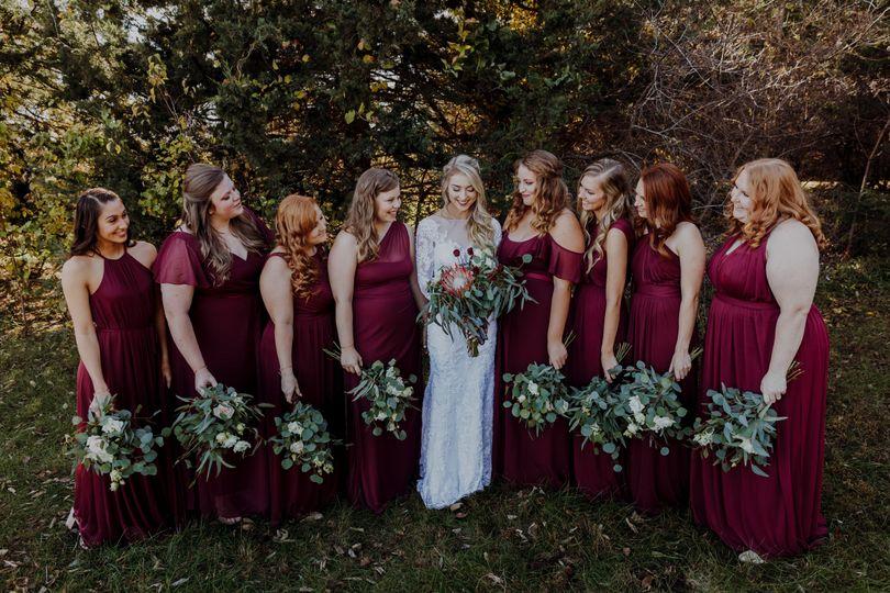 Wedding party John Moler Photography