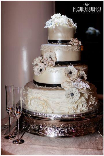 Smooth shiny cake