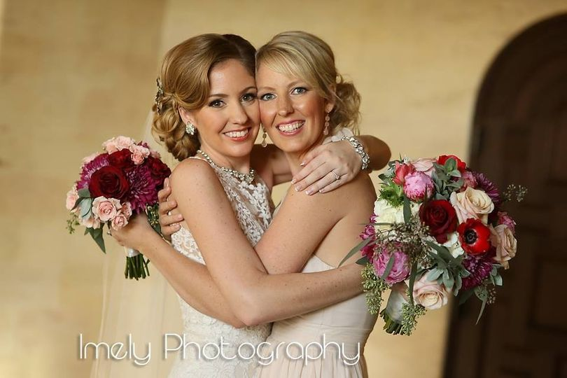 A bride and her best friend
