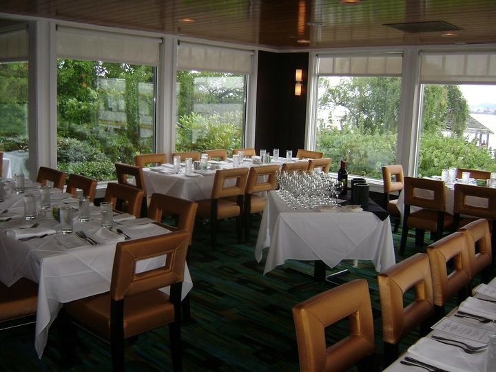 can seat up to 70 guests at long tables.