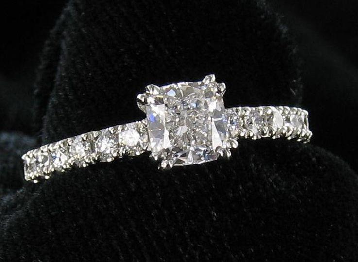 Princess cut with diamonds