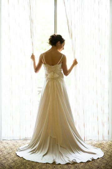 Flowy bridal dress
