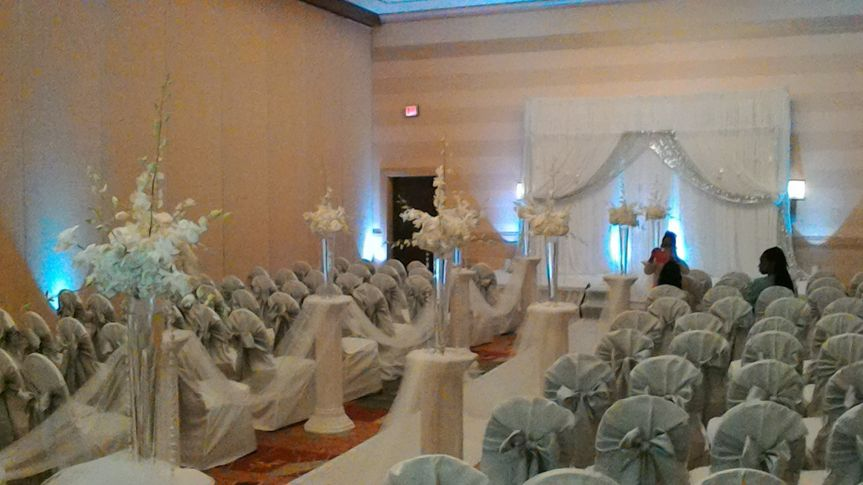 Wedding space setup