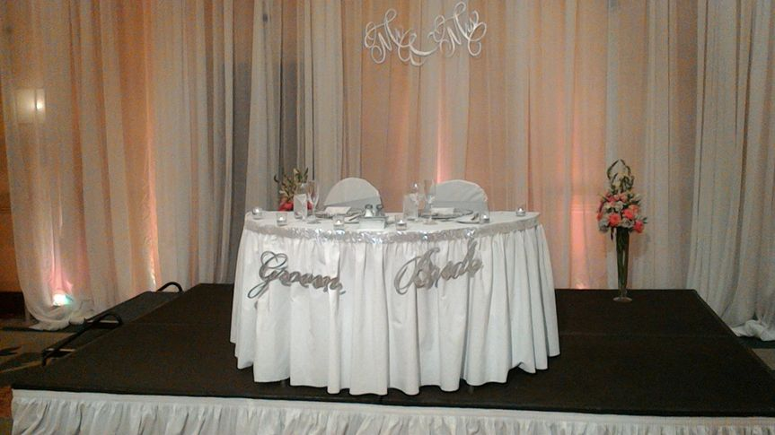 Sweatheart table