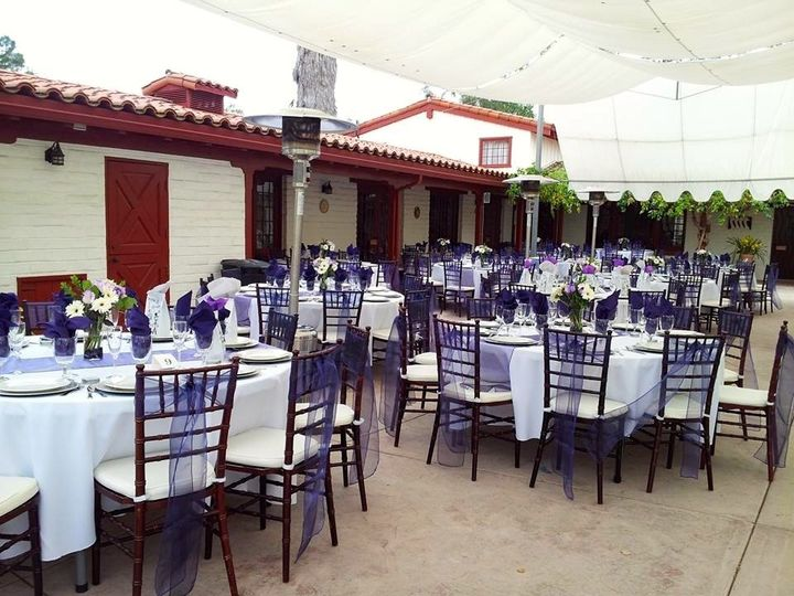 Purple and white wedding at Fallbrook Hacienda