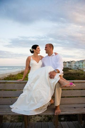 Kelley and Aaron in the Outer Banks