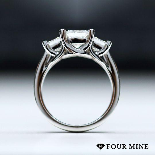 Three Stone Trellis Princes Diamond