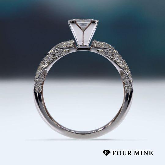 Rolling Diamond Engagement Ring