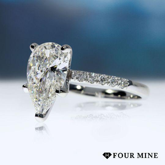 Traditional Pave Diamond Ring