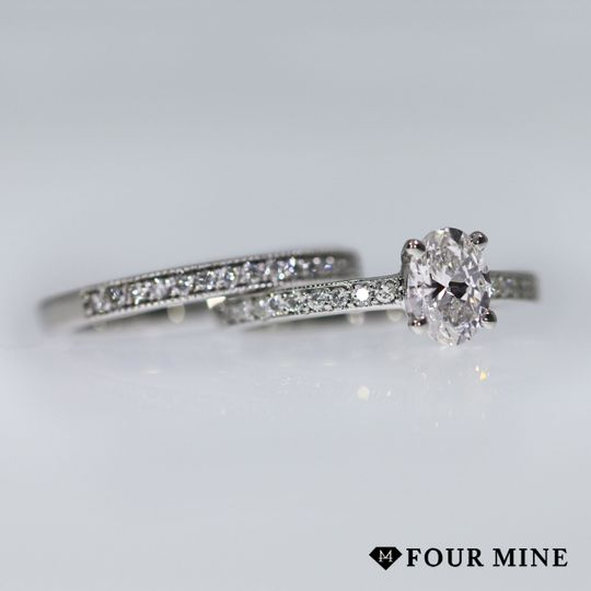 Pave and Milgrain Diamond Ring