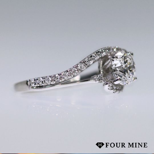 Two Tone Bypass Diamond Ring