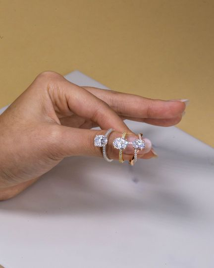 With Clarity Engagement Rings