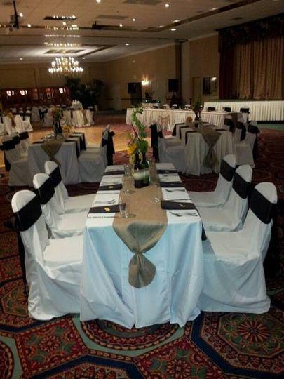 fest style wedding setup