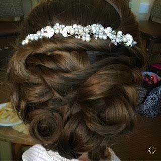 Updo with adornment