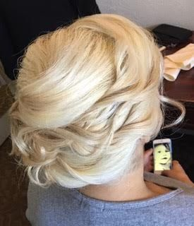 Wavy twisted updo