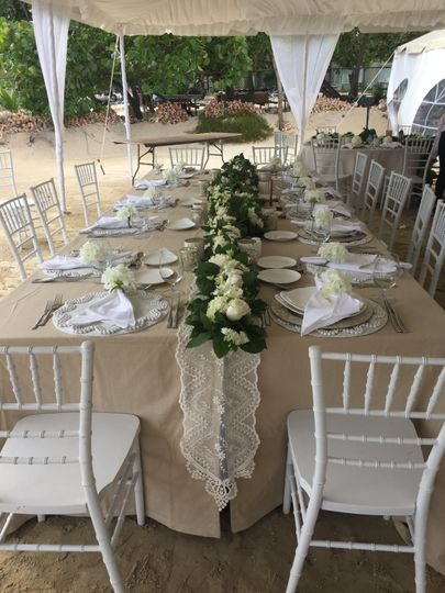 Sandals: Wedding Tables