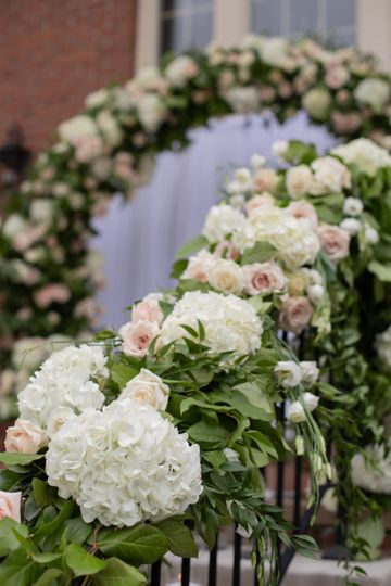 Floral arch and garland