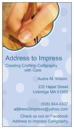Address to Impress- Calligraphy Services