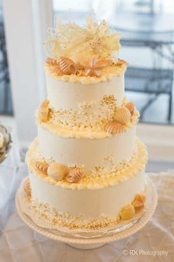 3-tier buttercream cake