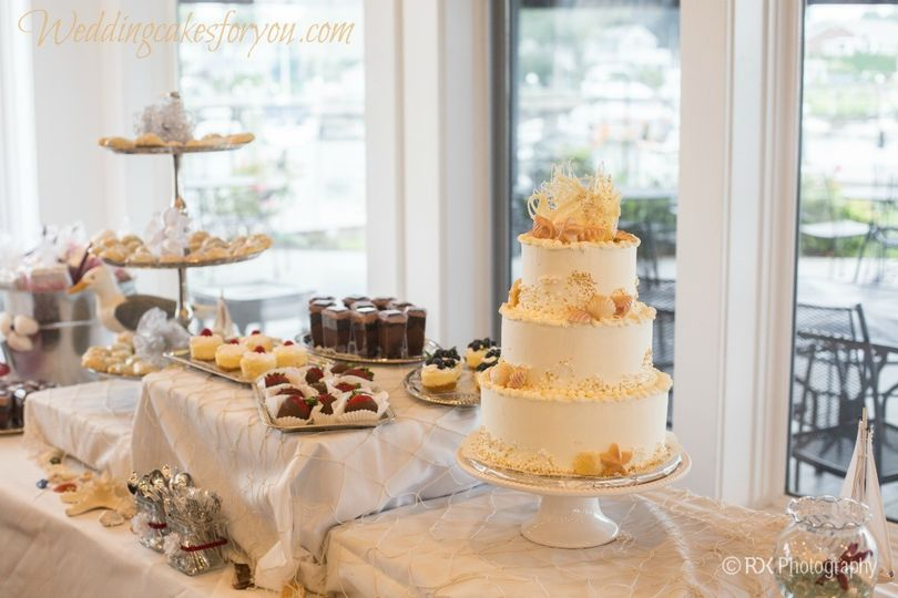 Wedding cake and dessert bar