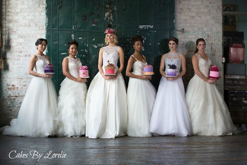 Brides and wedding cakes