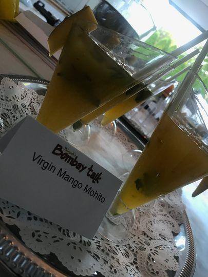 Virgin mango mohito