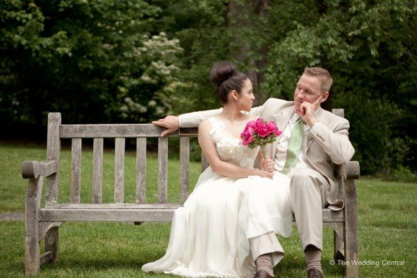 Spring and romantic wedding - bride and groom