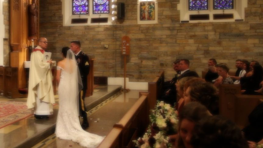 Giving their vows