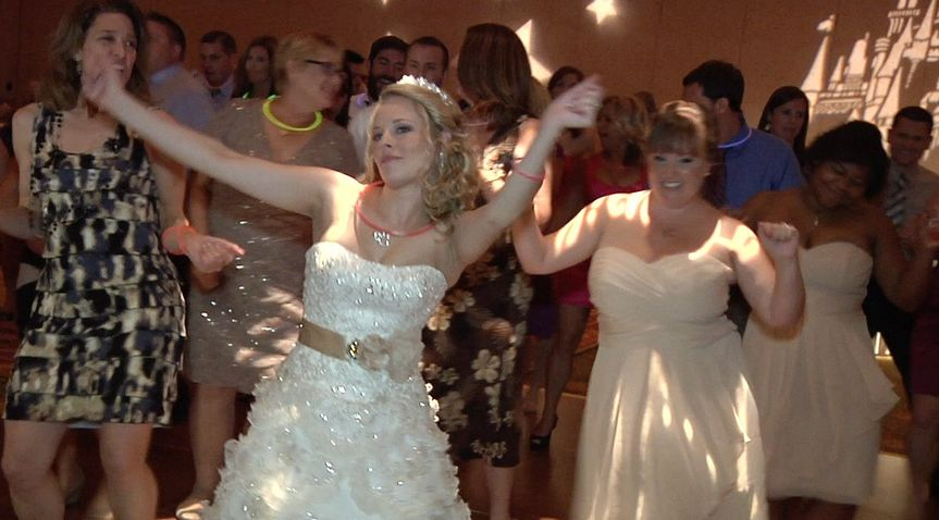 The bride leading the dance