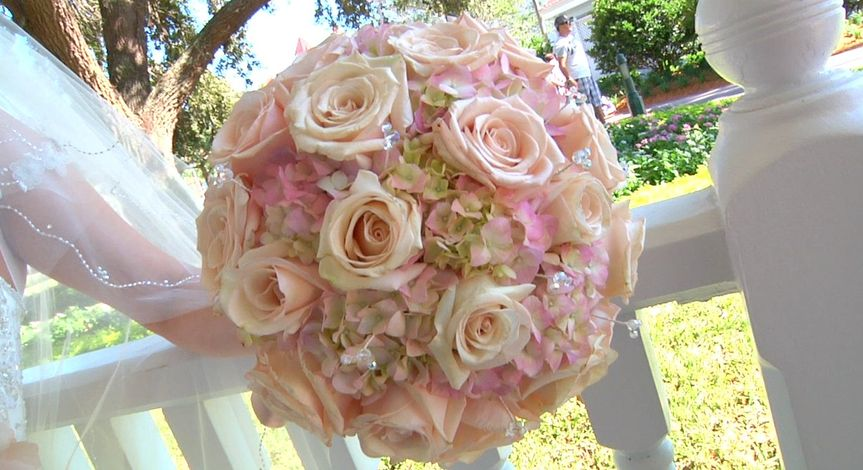 The brides flowers