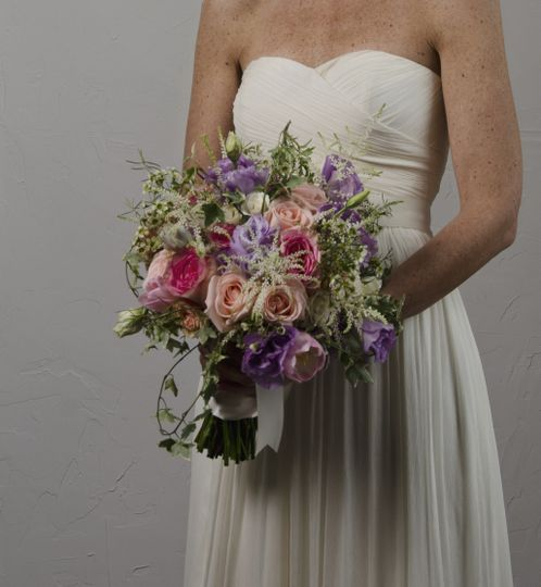 Bride holding the bouquet