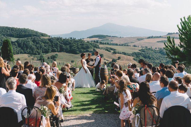 Wedding in Pienza Tuscany