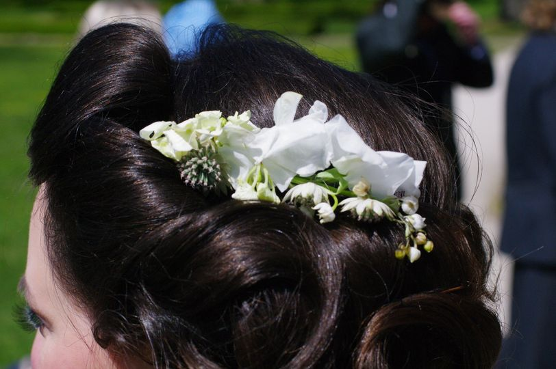 Customized floral hair accessory
