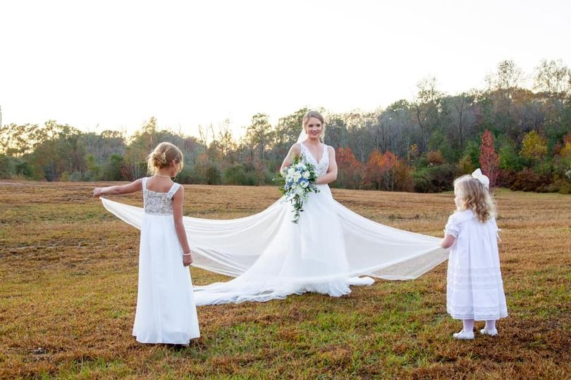 A Bride and her Flower Girls