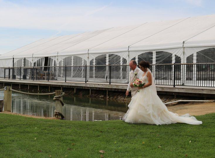 Walking the bride