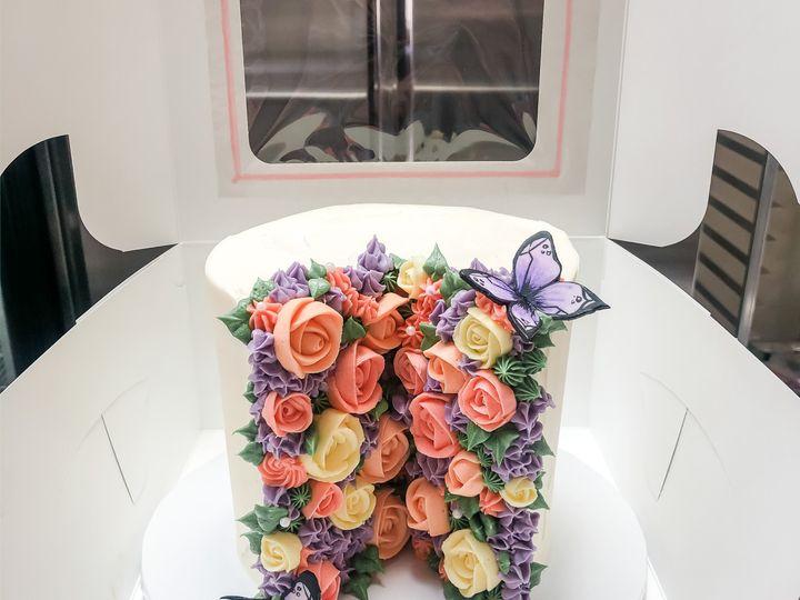 Tmx Purple Split Floral 51 1974493 159481952760546 York, ME wedding cake