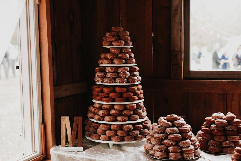 Doughnut tower and bar