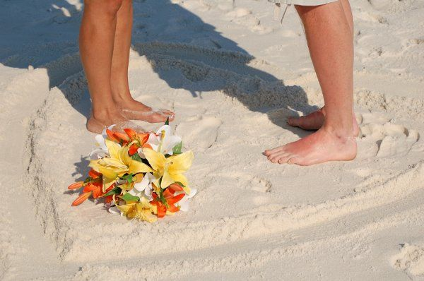 Bouquet on the sand