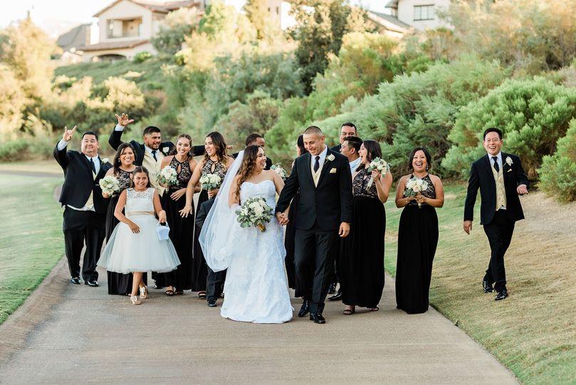 Fun bridal party!