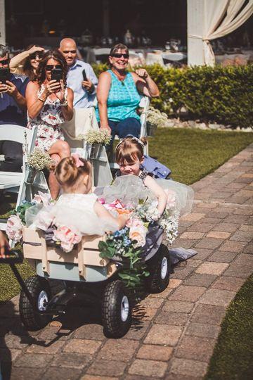 Flower girls wagon