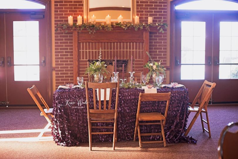 Intimate dinner setting