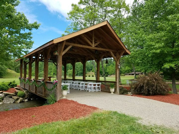 One of two covered bridges