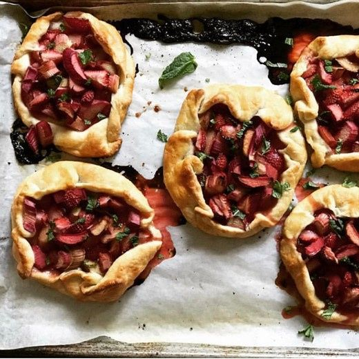 Strawberry rose water galette